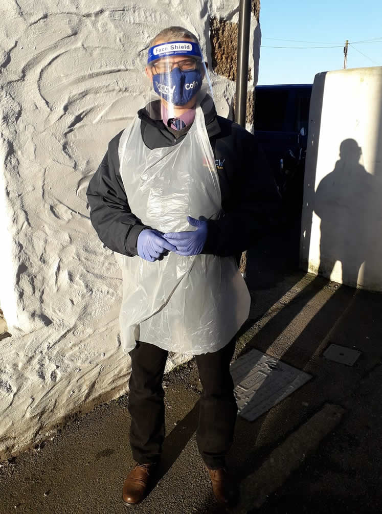 Colin Whiting in full ppe